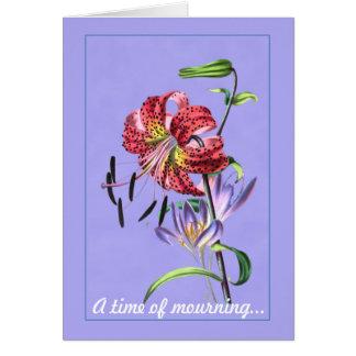 Um momento do cartão da Lamentar-Simpatia