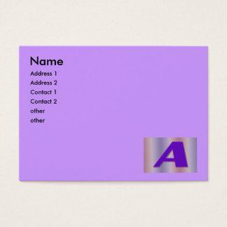 Um monograma roxo cartão de visitas
