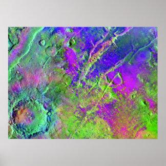 Um mosaico da odisseia de Marte Pôsteres