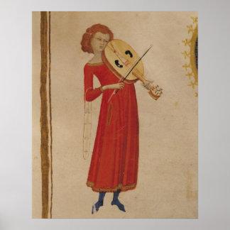 """Um músico, de """"De Musica"""" por Boethius Poster"""