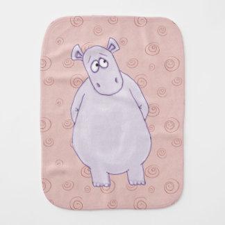 Um pano pequeno culpado do Burp do hipopótamo Paninhos Para Bebês