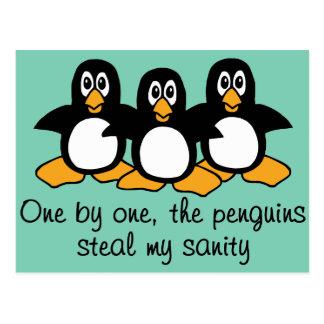 Um por um o design engraçado do provérbio dos cartão postal