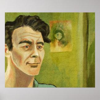 Um poster do retrato do homem novo