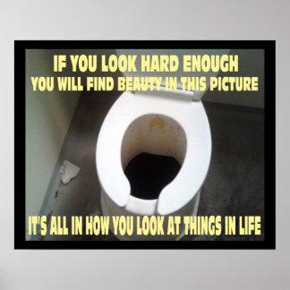 Um poster inspirador e positivo engraçado