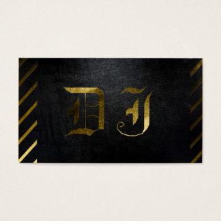Um preto matte legal e cartão de visita do DJ do