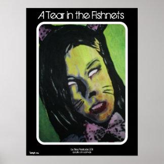 """Um rasgo poster do zombi nos Fishnets"" Pôster"