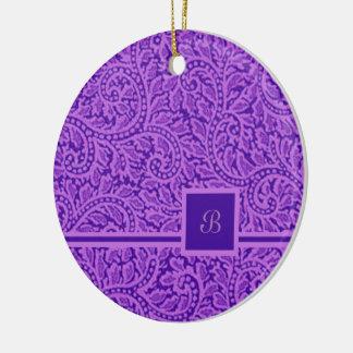 Um redemoinho 5 de Paisley Ornamento De Cerâmica Redondo