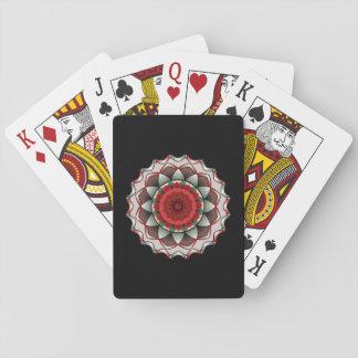 Um rosa sem os cartões de jogo dos espinhos jogo de baralho
