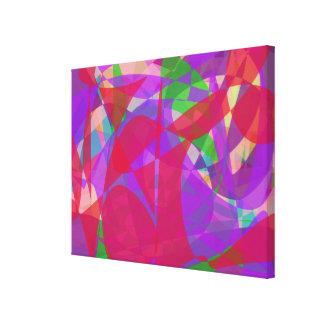 Um sinal impressão de canvas esticadas