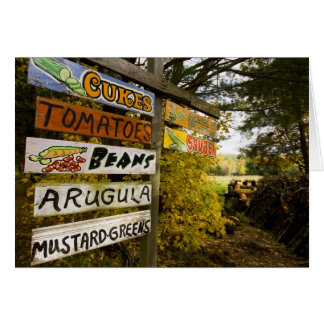 Um suporte da fazenda em Holderness, New Cartão Comemorativo