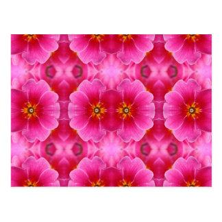 Um teste padrão amarelo cor-de-rosa abstrato cartão postal