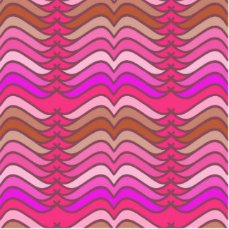 Um teste padrão de onda cor-de-rosa de néon foto escultura