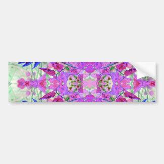 Um teste padrão floral azul cor-de-rosa abstrato adesivo para carro