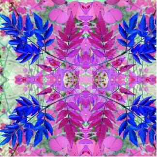 Um teste padrão floral azul cor-de-rosa abstrato foto escultura