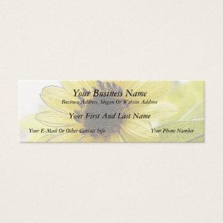 Um único limão - girassol amarelo cartão de visitas mini