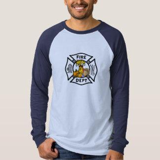 Uma acção de graças do sapador-bombeiro camisetas