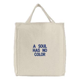 Uma alma não tem nenhum bolsa da cor