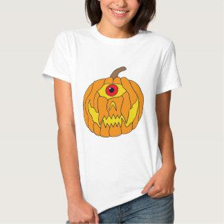 Uma arte Eyed da abóbora do Dia das Bruxas T-shirt