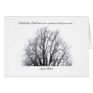 Uma árvore cartão de nota