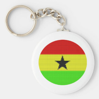 Uma bandeira ganesa do círculo chaveiro