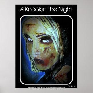 """""""Uma batida no poster da noite"""" (zombi) Pôster"""