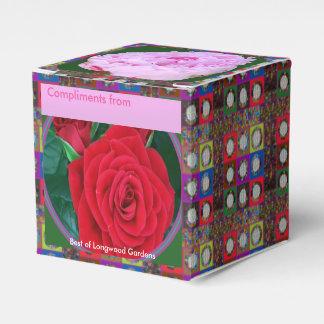 Uma caixa editável do favor de RedROSE n PinkROSE Lembrancinhas Para Casamento