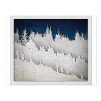 Uma caminhada da neve cartão postal
