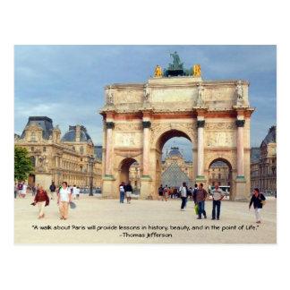 Uma caminhada em Paris Cartoes Postais