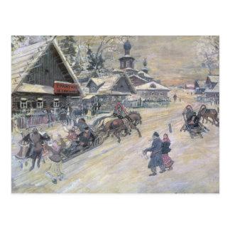 Uma caminhada festiva, Rússia Cartão Postal