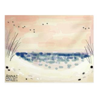 Uma caminhada pelo mar cartão postal