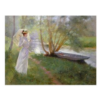 Uma caminhada pelo rio 1890 cartão postal