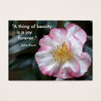 """""""Uma coisa da beleza    é uma alegria… Cartão De Visitas"""