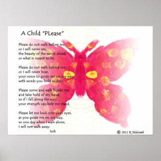 """Uma criança """"por favor """" poster"""