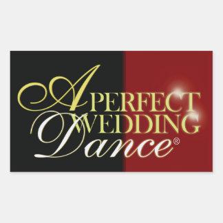 Uma dança perfeita do casamento adesivo retangular