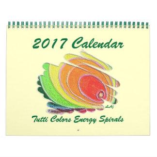 Uma energia colorida arte de 2017 calendários