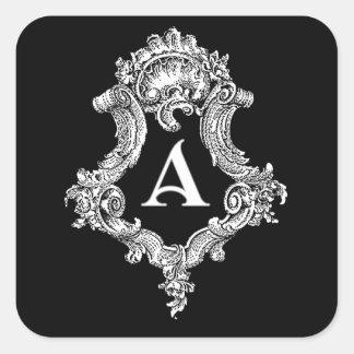 Uma etiqueta da inicial do monograma