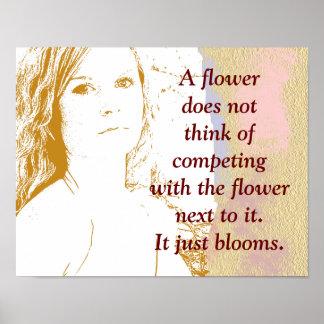 Uma flor floresce - impressão da arte