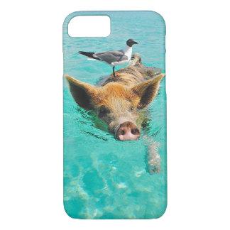 Uma gaivota de mar e um porco capa iPhone 8/7
