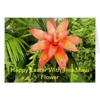 Uma laranja bonita com flor amarela cartão