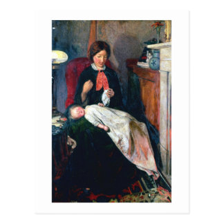 Uma lareira inglesa de 1854-5 cartão postal