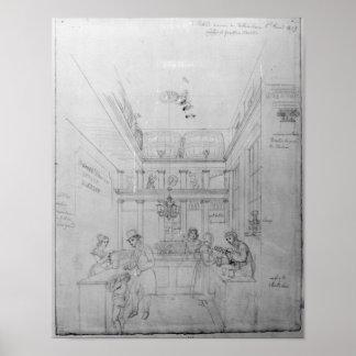 Uma loja do licor de Londres, 1839 Poster