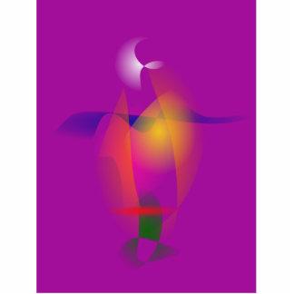 Uma luz alaranjada em uma noite roxa escultura fotos