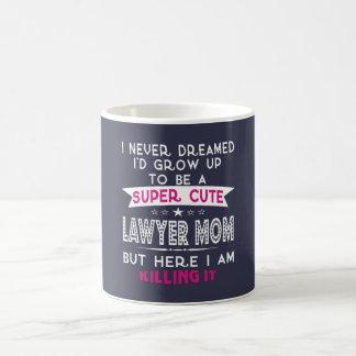 Uma mamã bonito super do advogado caneca de café