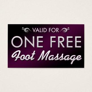 Uma massagem livre do pé cartão de visitas