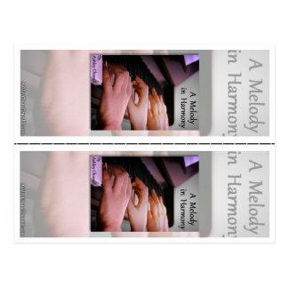 """""""Uma melodia na harmonia"""" por marcador de Ashley Cartão Postal"""