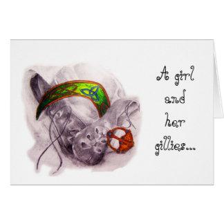 Uma menina e seu cartão dos Gillies