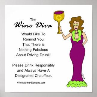 Uma mensagem importante da diva do vinho pôster
