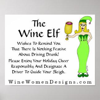 Uma mensagem importante do duende do vinho pôster