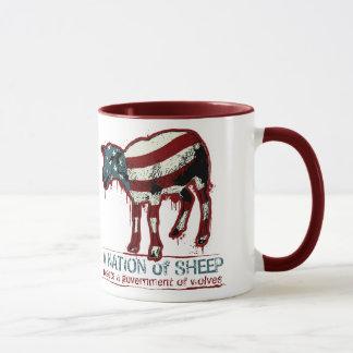 Uma nação da caneca dos carneiros