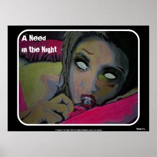 Uma necessidade poster na noite